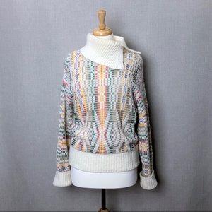 ANTHROPOLOGIE Sleeping on Snow Wool Blend Sweater